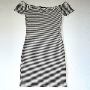 Forever 21 striped fitted dress